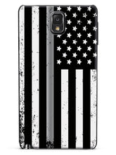 Downward American Flag - Thin Silver Line Case