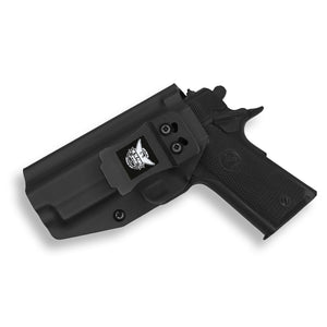 "1911 4"" Commander With Rail Only IWB Kydex Holster for Concealed Carry"