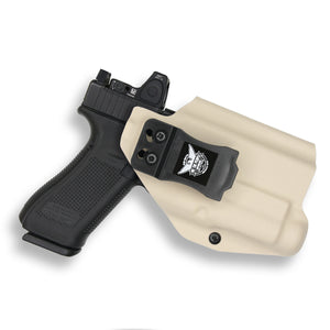 Glock 17 22 31 MOS with Streamlight TLR-1/1S/HL Light RDS Red Dot Optic Cut IWB KYDEX Concealed Carry Holster