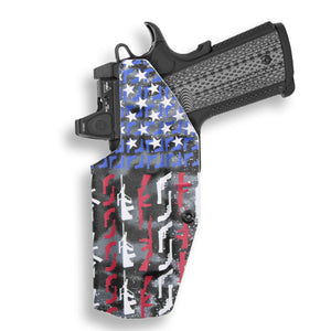 "Colt 1911 5"" Government With Rail Only RDS Red Dot Optic Cut IWB Holster"