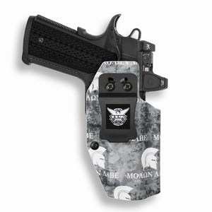 "1911 4"" Commander With Rail Only RDS Red Dot Optic Cut IWB Holster"