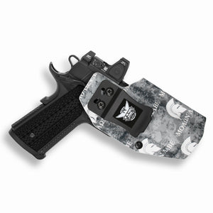 "1911 4"" Commander With Rail Only RDS Red Dot Optic Cut IWB KYDEX Concealed Carry Holster"