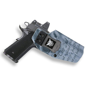 "Colt 1911 5"" Government No Rail Only RDS Red Dot Optic Cut IWB Holster"