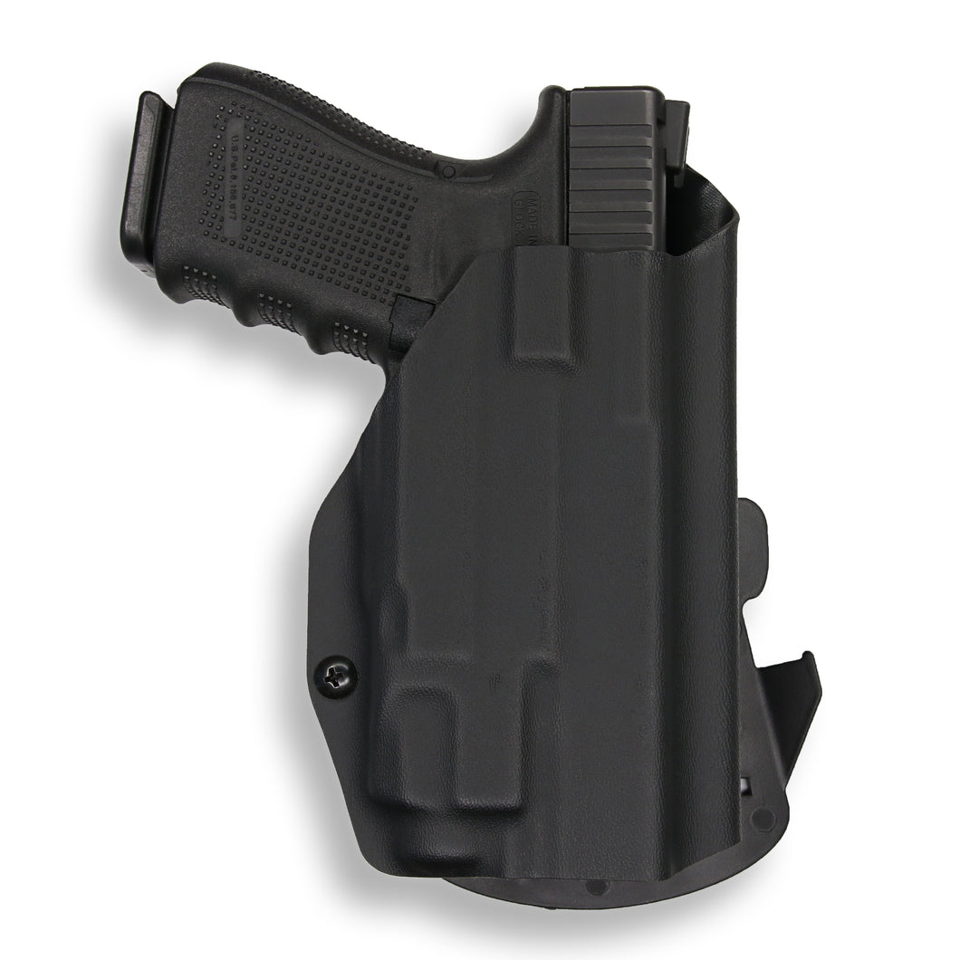 Glock 23 with Streamlight TLR-7 Light OWB Holster