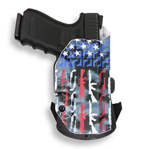 "1911 3.25"" Defender With Rail Only RDS Red Dot Optic Cut OWB Holster"