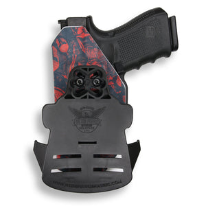 "Springfield 1911 4"" No Rail Only RDS Red Dot Optic Cut OWB Holster"