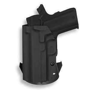 "1911 3.25"" Defender With Rail Only OWB Concealed Carry Kydex Holster"