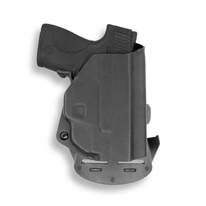 Smith & Wesson M&P9 Shield M1.0 M2.0 9mm/.40 with Crimson Trace LG489G Laser KYDEX OWB Concealed Carry Holster