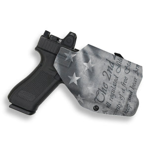 Glock 17 22 31 MOS with Streamlight TLR-1/1S/HL Light RDS Red Dot Optic Cut OWB KYDEX Concealed Carry Holster