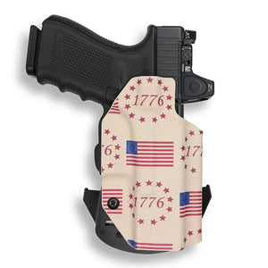 Glock 19 23 32 45 19x MOS RDS Red Dot Optic Cut OWB KYDEX Concealed Carry Holster