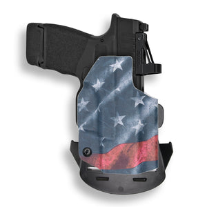 "Springfield Hellcat 3"" Micro-Compact 9mm OSP RDS Red Dot Optic Cut OWB Holster"