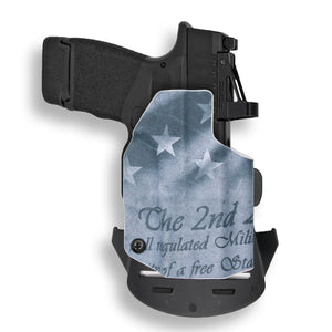 "Springfield Hellcat 3"" Micro-Compact 9mm OSP RDS Red Dot Optic Cut OWB KYDEX Concealed Carry Holster"