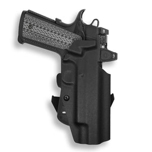 "1911 5"" Government With Rail Only RDS Red Dot Optic Cut OWB Holster"