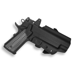 "Colt 1911 5"" Government With Rail Only RDS Red Dot Optic Cut OWB Holster"