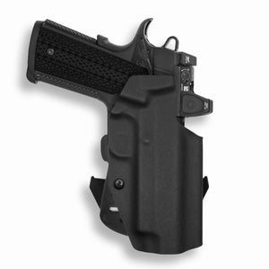 "1911 4"" Commander With Rail Only RDS Red Dot Optic Cut OWB Holster"