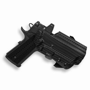 "Springfield 1911 4"" With Rail Only RDS Red Dot Optic Cut OWB Holster"