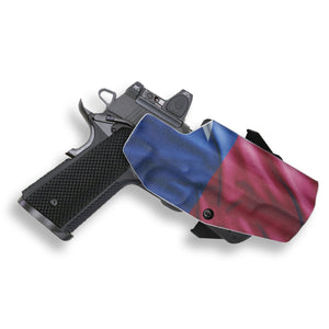 "1911 5"" Government No Rail Only RDS Red Dot Optic Cut OWB KYDEX Concealed Carry Holster"