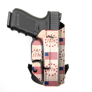 Glock 17 22 31 MOS RDS Red Dot Optic Cut with Streamlight TLR-1/1S/HL Light OWB KYDEX Concealed Carry Holster