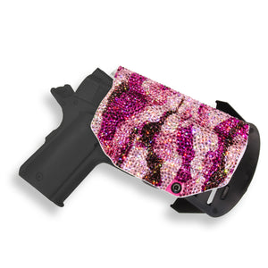 Swarovski Crystal Encrusted Kydex OWB Outside the Waistband Holster