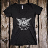 We The People Deep V-Neck T-Shirt