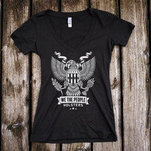 Heraldic Eagle with Shield Deep V-Neck T-Shirt