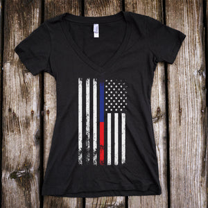 American Flag Thin Blue Line/Thin Red Line Shirt
