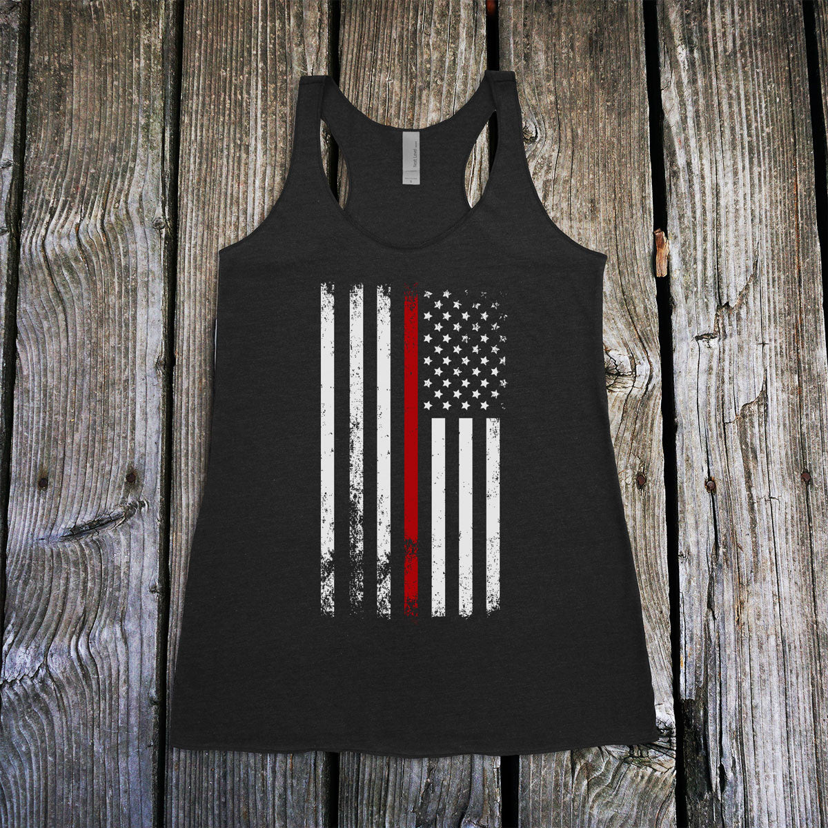 American Flag Thin Red Line Firefighter Support Women S