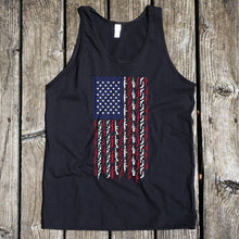American Flag in Guns Patriotic Colors Men's Black Tank