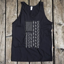 American Flag in Guns Men's Black Tank
