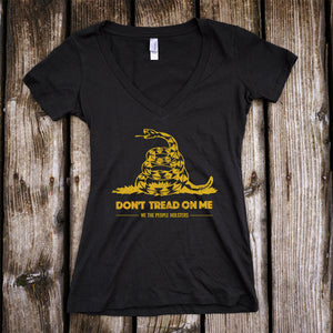 Don't Tread on Me Deep V-Neck Shirt