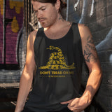 Don't Tread on Me Men's Black Tank
