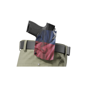 Texas State Flag Kydex OWB Paddle holster Custom Designed Paddle
