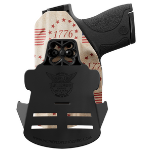 The Betsy Ross Flag Tribute to Independence Day 1776 Custom Printed Holster - OWB Kydex Holster