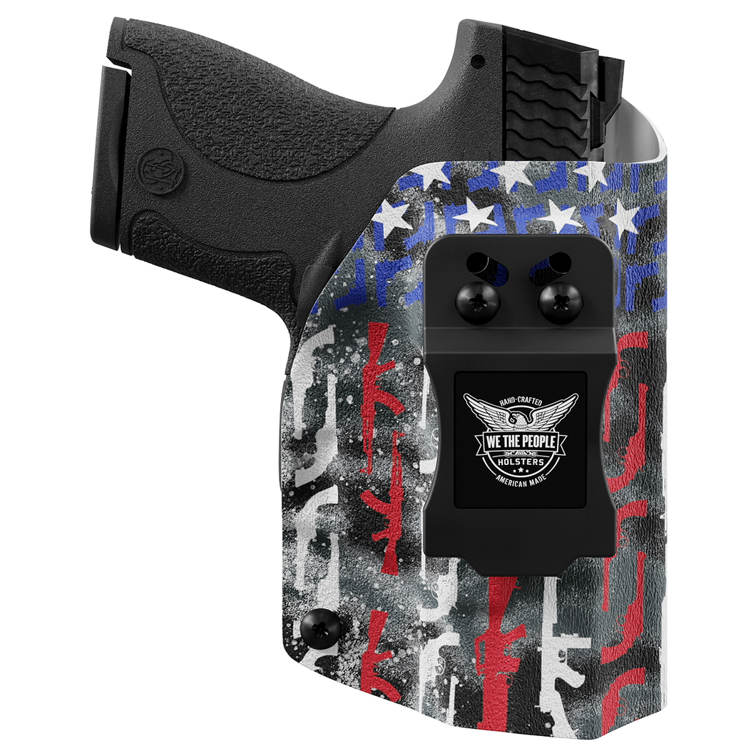 American Flag in Guns Patriotic Colors Custom Printed Holster - IWB Kydex Holster
