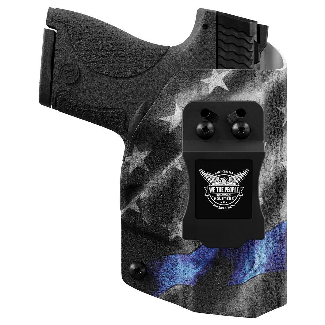 Thin Blue Line Custom Printed Holster - IWB Kydex Holster - Law Enforcement Support Holster