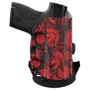 Red Spartan Camo Custom Printed Holster - OWB Kydex Holster