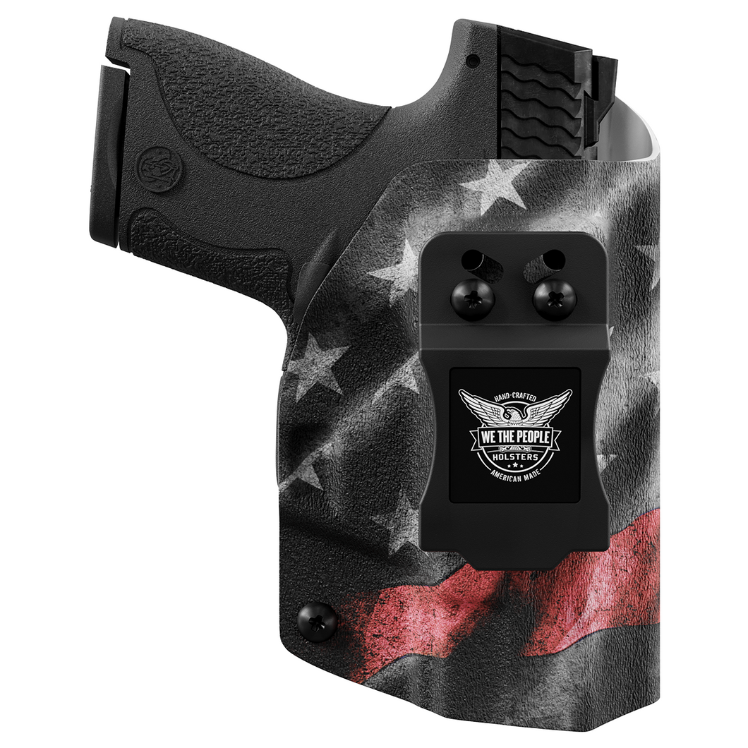 Thin Red Line Custom Printed Holster - IWB Kydex Holster - FireFighter Support Holster