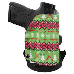 Ugly Christmas Holster - Custom Printed Holster - OWB Kydex Holster