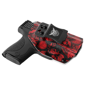 Red Spartan Camo Custom Printed Holster - IWB Kydex Holster