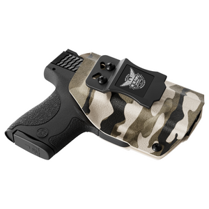 Tan Camo Custom Kydex IWB Holster for concealed carry