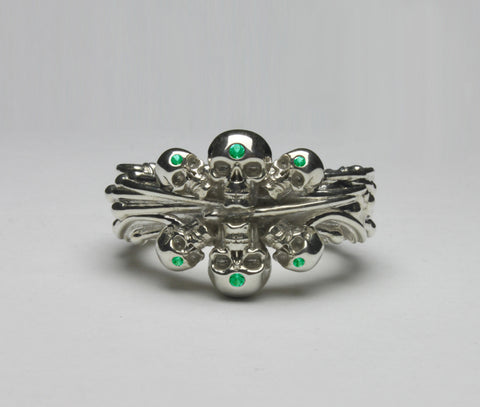Sea Skull Ring with gems