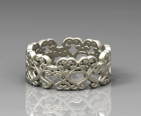 AVALON HEARTS RING
