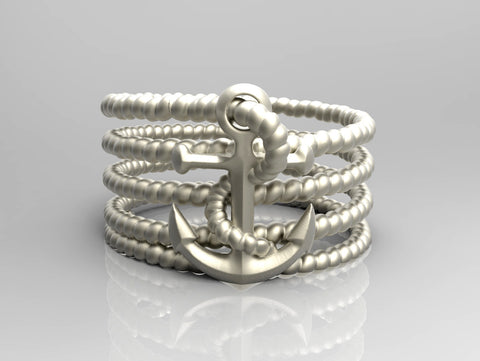 Anchor with rope Ring