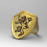 LION SHIELD RING