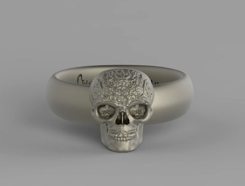 Orchideyed Skull Ring