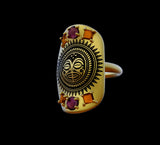 Tiki Shield Ring