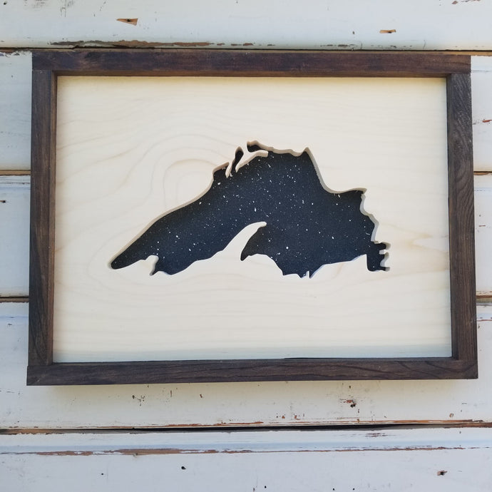 Lake Superior - Framed Cutout/Recessed Image