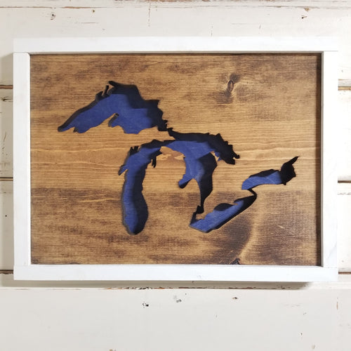 Great Lakes - Framed Cutout