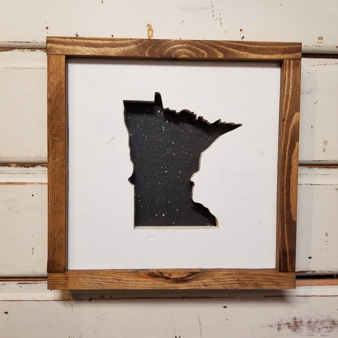 Minnesota/State - Framed Cutout/Recessed Image