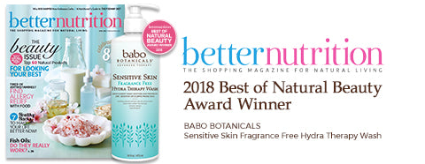 Better Nutrition Winner - Sensitive Skin Hydra Therapy Wash